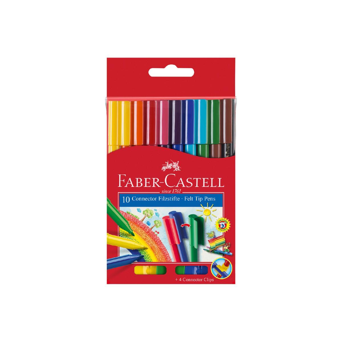 Faber Castell 10'lu Eğlenceli Keçeli Kalem