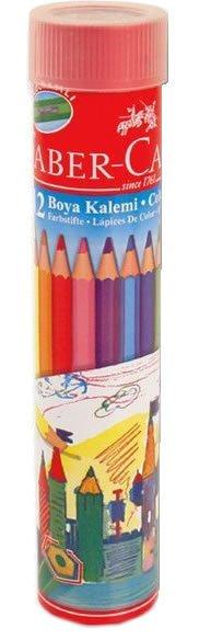 Faber Castell 12 Renk Metal Tüp Kuru Boya Kalemi