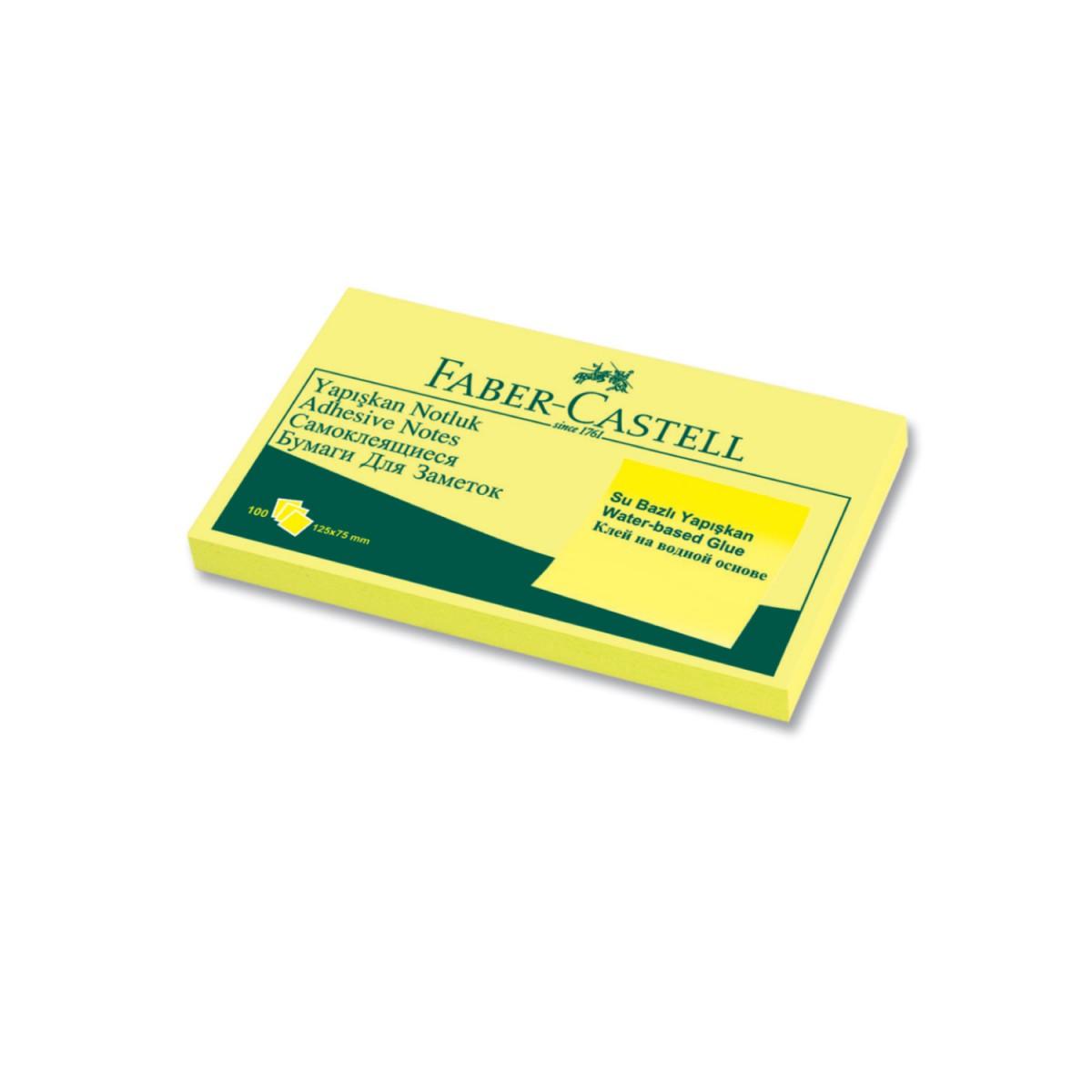 Faber Castell 125x75mm, Sarıyapışkan Not Kağıdı