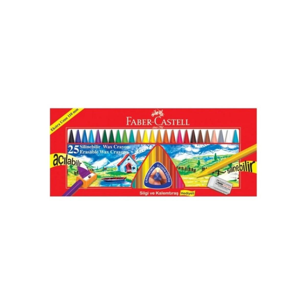 Faber Castell 25 Renk Silinebilir Mum Boya