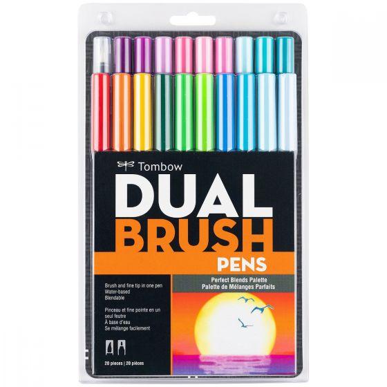 Tombow ABT Dual Brush Pen Grafik Kalemi 20'li Set - Perfect Blends