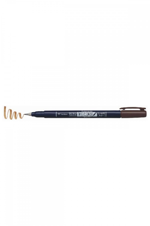 Tombow Fudenosuke Brush Pen Fırça Uçlu Kalem Sert Uç - Kahverengi