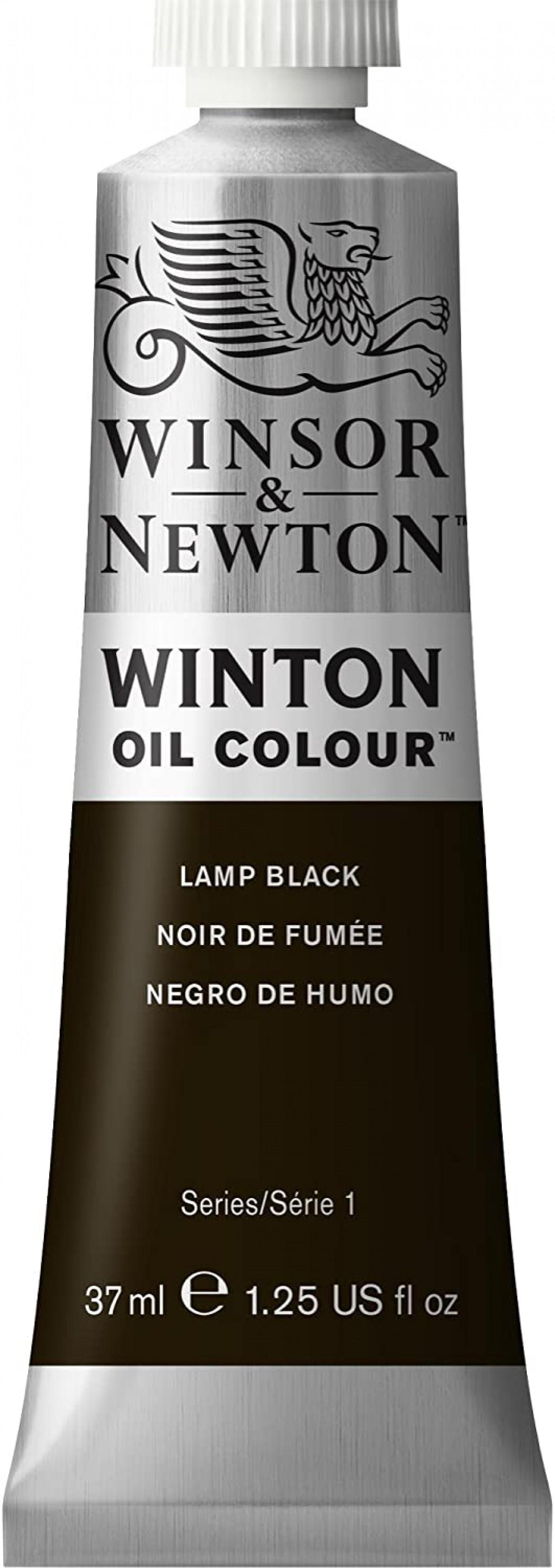 Winsor Newton Winton Yağlı Boya 37ml - Lamp Black 337