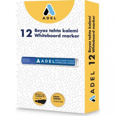 Adel Beyaz Tahta Kalemi 12li Kutu-Mavi