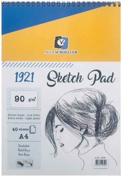 Alex Schoeller A4 Spiralli 90gr 40yp Skect Pad ALX.0526