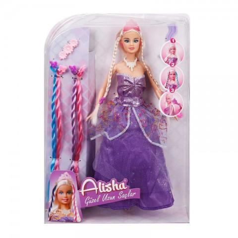 Alisha Prenses Uzun Saçlı Oyuncak Bebek Seti