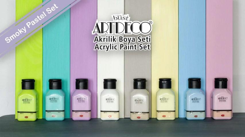 Artdeco Akrilik Boya 8x75ml Smoky Pastel Renkler Set