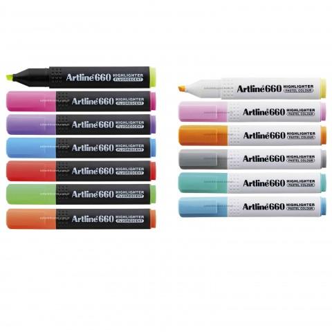 Artline 660 Neon + Pastel Seri 13 Renk Fosforlu Kalem Seti