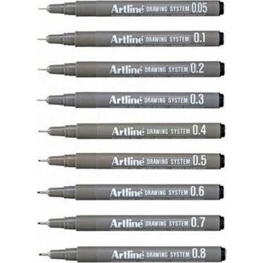 Artline Drawing System Teknik Çizim Kalemi 9'lu Tam Set