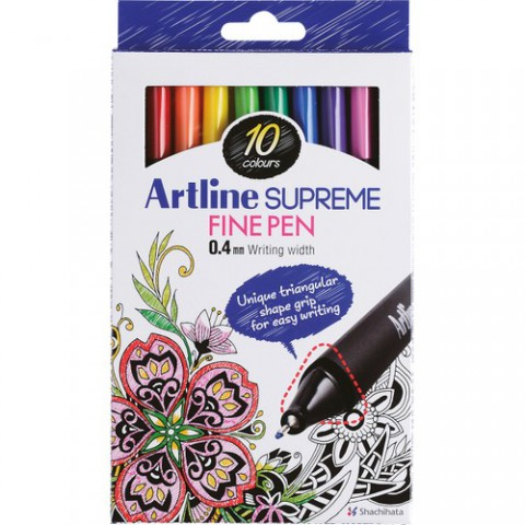 Artline Supreme Fine Pen Assorted Box (10pcs)