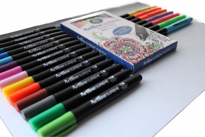 Artline Supreme Kalem Seti (14 Renk Markör + 7 Renk Fosforlu Kalem + 10 Renk 0.4mm Kalem)