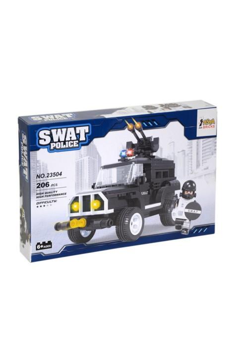 Asya Lego 206 Parça Çocuk Lego Seti - Swat Police