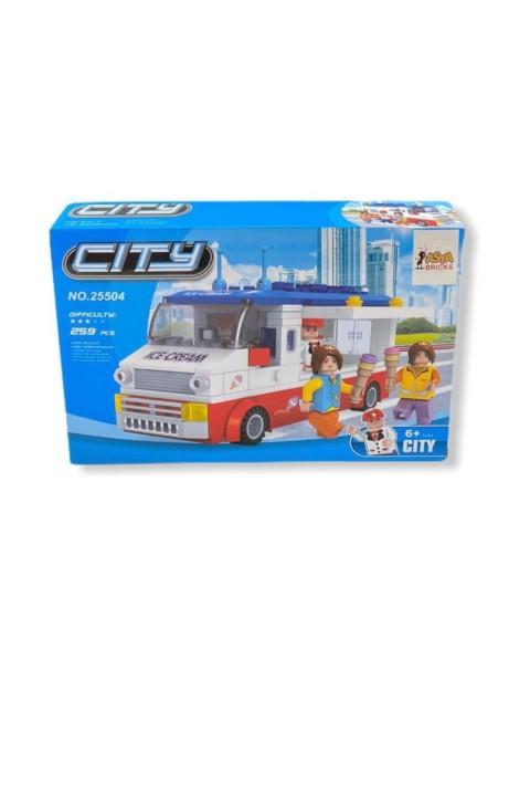 Asya Lego 259 Parça Çocuk Lego Seti - Dondurma Arabası