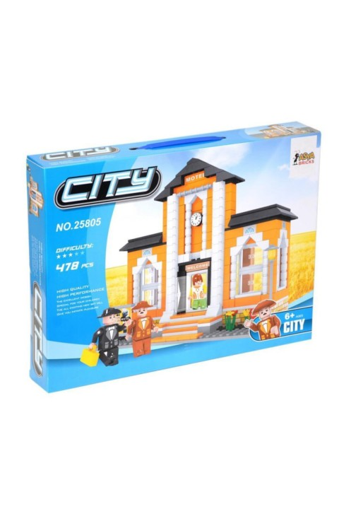 Asya Lego City 478 Parça Çocuk Lego Seti - Motel