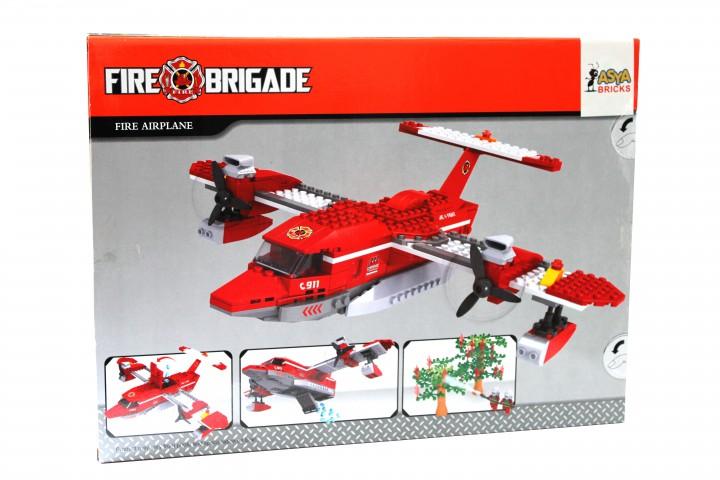 Asya Lego Fire Brigade 405 Parça Çocuk Lego Seti - Fire Airplane