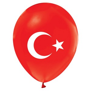 Ay Yıldız Türk Bayraklı Balon 10 Adet