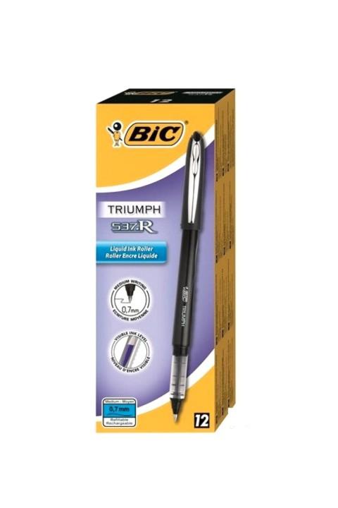 Bic Triumph 537R Roller Kalem 0.5mm 12'li Kutu - Siyah