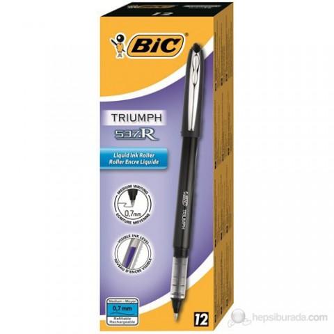 Bic Triumph 537R Roller Kalem 0.7mm 12'li Kutu - Siyah