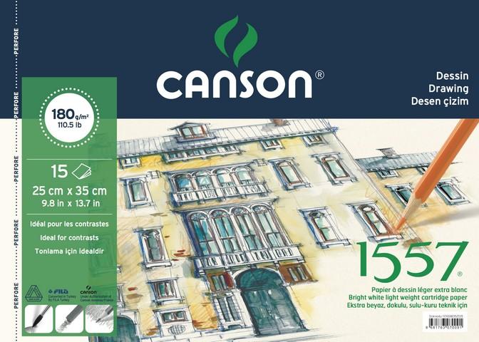 Canson 1557 25x35cm Çizim Blok 180gr 15 Yaprak