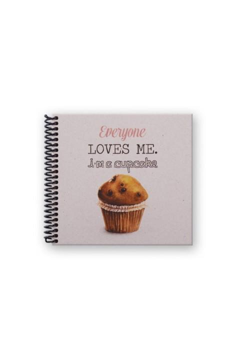 Container Notebook 16,5x15,5cm Spiralli Noktalı Defter - Everyone Loves Me