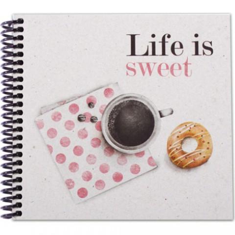 Container Notebook 16,5x15,5cm Spiralli Noktalı Defter - Life Is Sweet