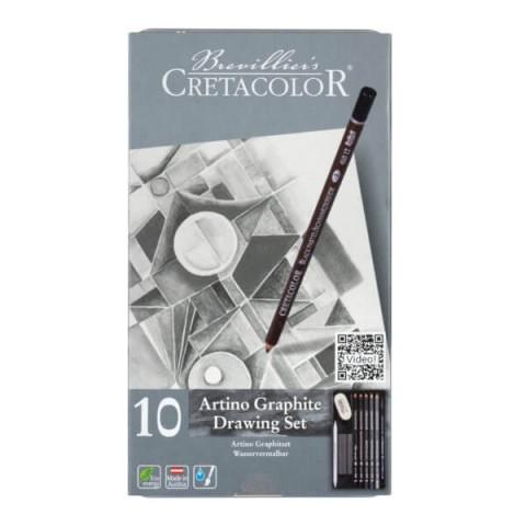 Cretacolor Artino Graphite 10'lu Çizim Seti 400 21