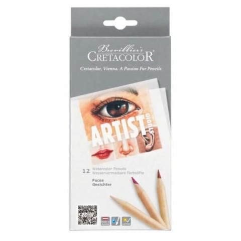 Cretacolor Artist Studio Watercolor Pencils Faces 12'li Set  283 10