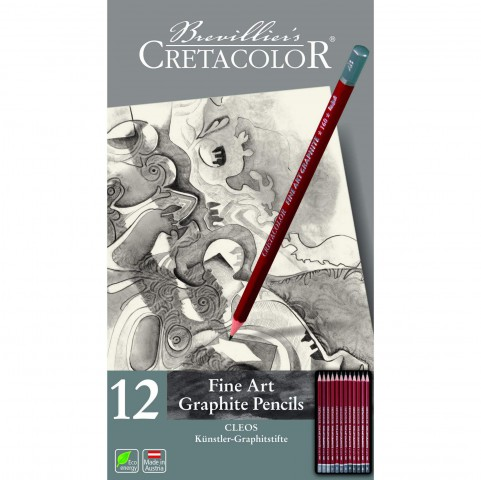 Cretacolor CLEOS Fine Art Graphite Pencils 12 Parça Set  160 52