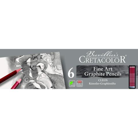 Cretacolor Fine Art Graphite Pencils 6 Parça Set  160 25