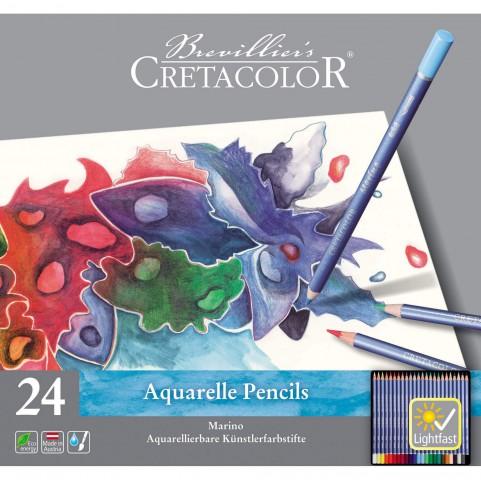 Cretacolor Marino Aquarell 24'lü Kuru Boya Seti 240 24