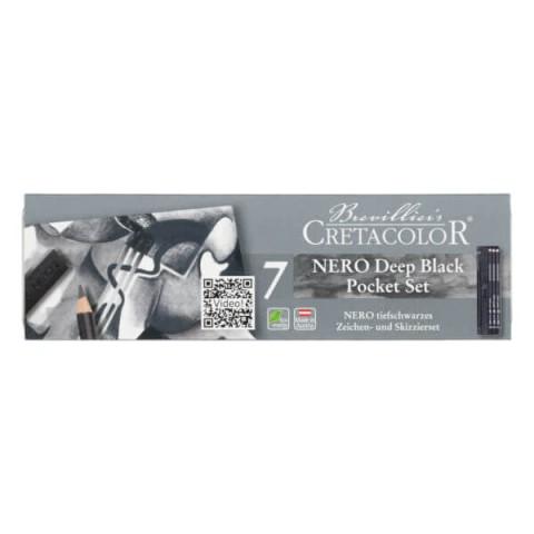 Cretacolor Nero Deep Black Pocket 7 Parça Set  400 08