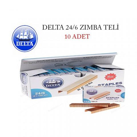 Delta 1551 24/6 Sarı Zımba Teli 10'LU Kutu [NO:24/6]