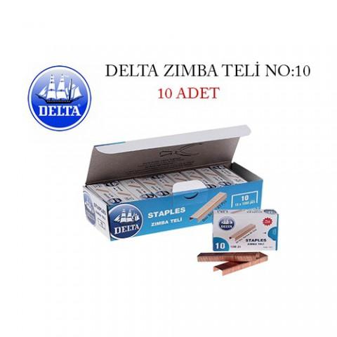 Delta 1621 No:10 Sarı Zımba Teli - 10'LU KUTU [NO:10]