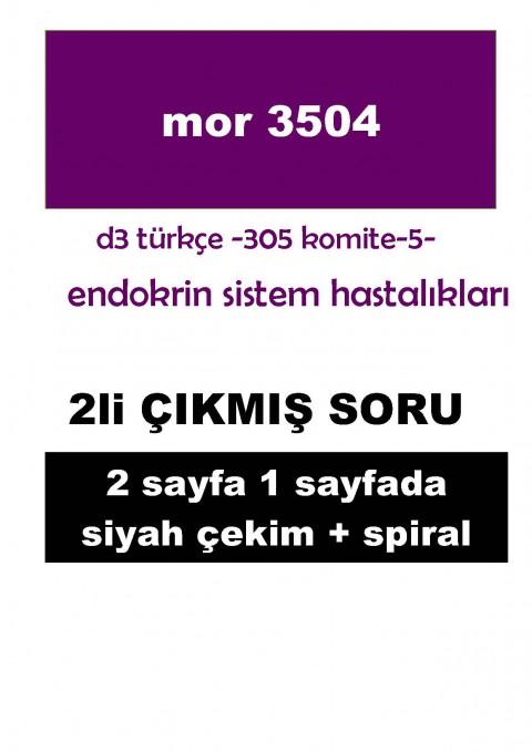 Dönem 3 Türkçe Komite 5 Çıkmış Soru - 2 li - Baskı