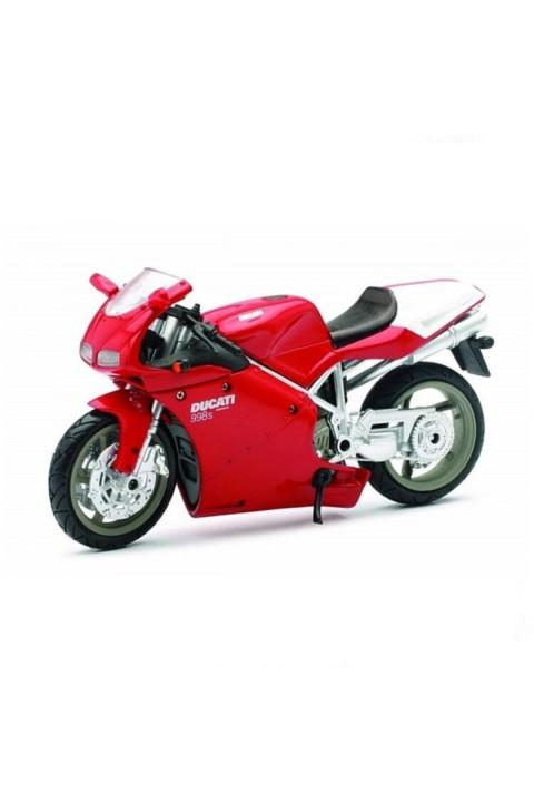 Ducati 998S Model Motorsiklet 1/12 Ölçek - Kırmızı