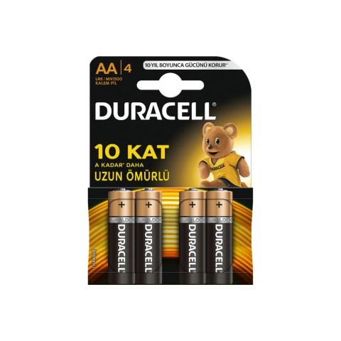Duracell AA 4 Lü Kalem Pil