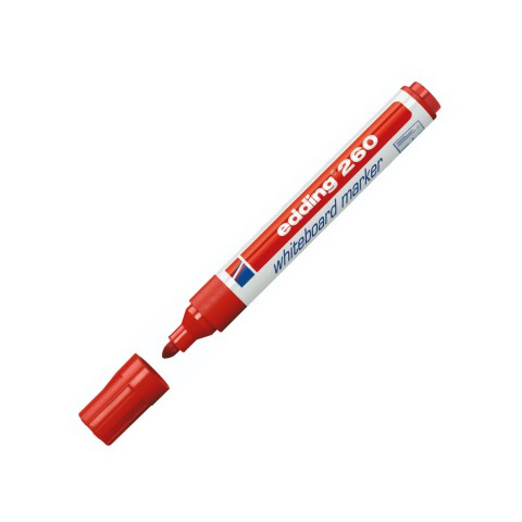 Edding 260 Kırmızı Beyaz Tahta Kalemi