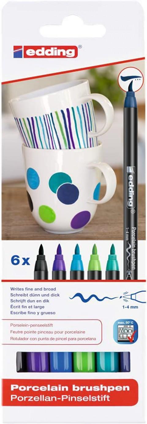 Edding 4200 6'lı Porselen Kalemi Set - Cool