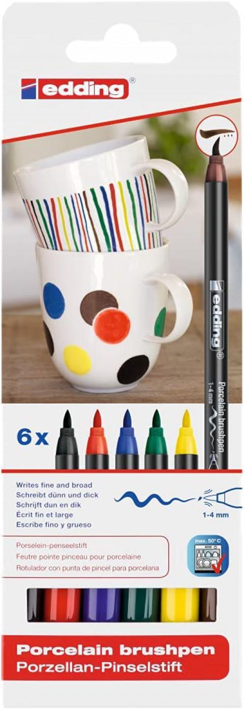 Edding 4200 6'lı Porselen Kalemi Set - Family