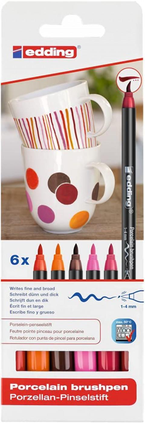 Edding 4200 6'lı Porselen Kalemi Set - Warm