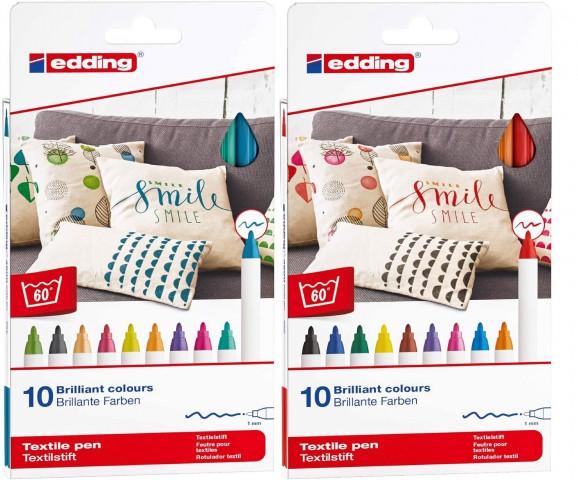 Edding 4600 20'li Tam Renk Kumaş Kalemi Set - Fun + Basic