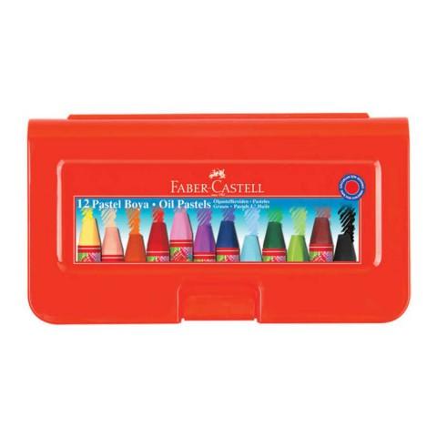Faber Castell 12 Li Altıgen Plastik Kutulu Pastel Boya