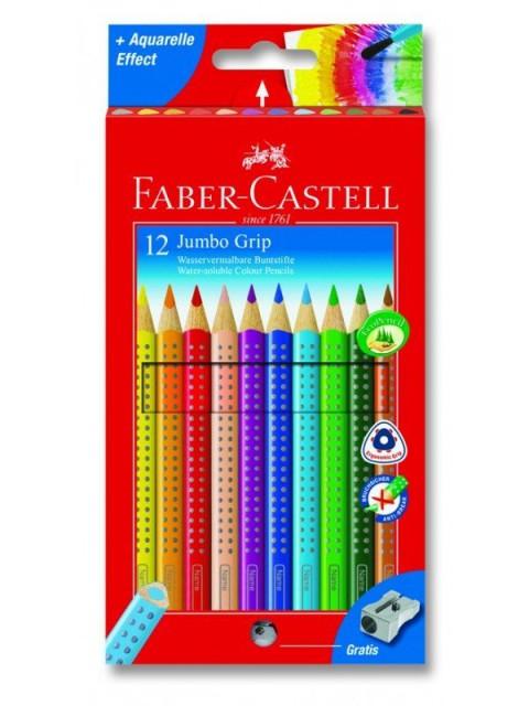Faber Castell 12 Li Grıp Jumbo Kuru Boya Kalemi