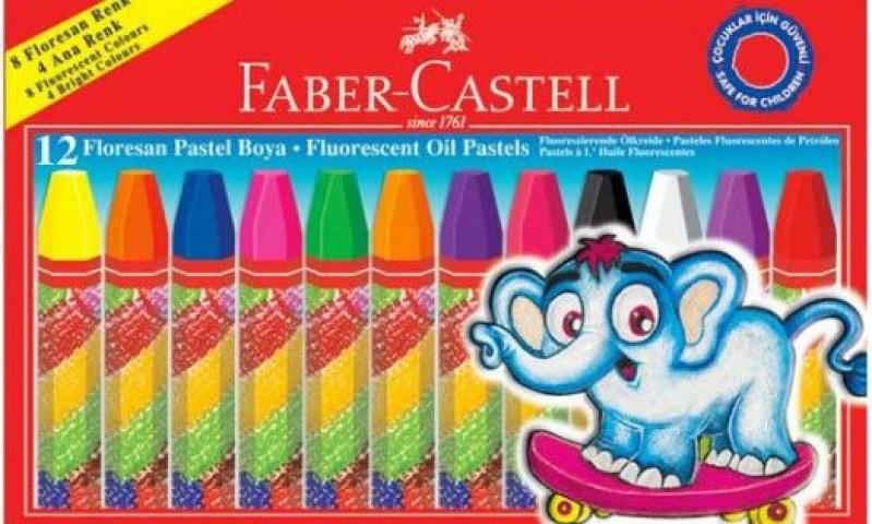 Faber Castell 12 Renk Floresan Pastel Boya
