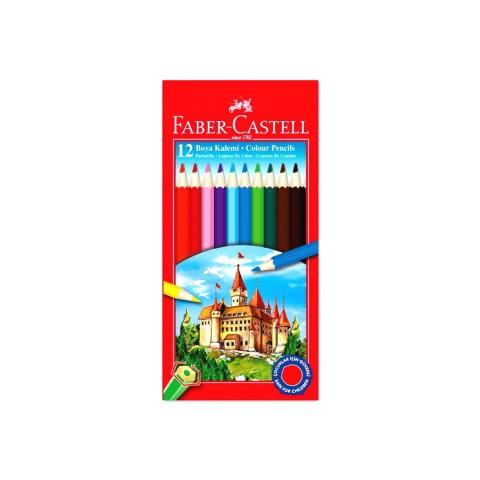 Faber Castell 12 Renk Tam Boy Karton Kutu Boya Kalemi