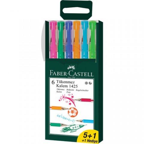 Faber Castell 1425 0.7mm 5+1 Tükenmez Kalem Set