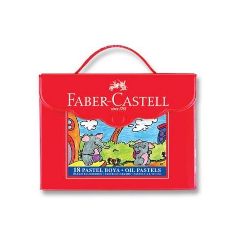 Faber Castell 18 Renk Plastik Çantalı Pastel Boya