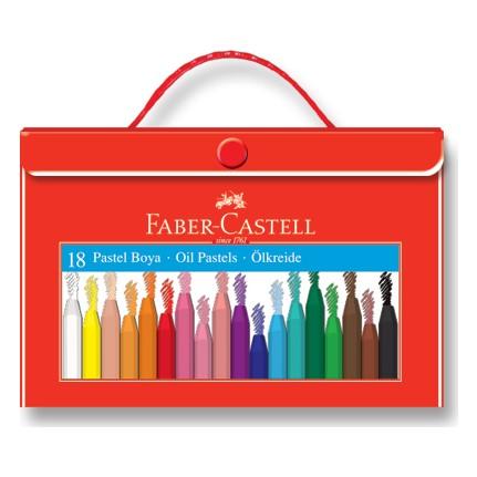 Faber Castell 18 Renk Plastik Çantalı Tutuculu Pastel Boya