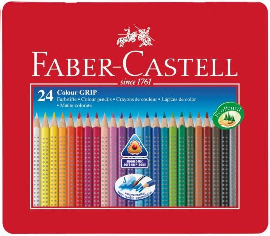 Faber Castell 24 Lü Metal Kutu Kuru Boya Kalemi