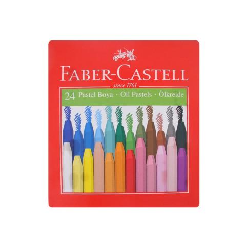 Faber Castell 24 Renk Karton Kutu Pastel Boya, 24 Renk